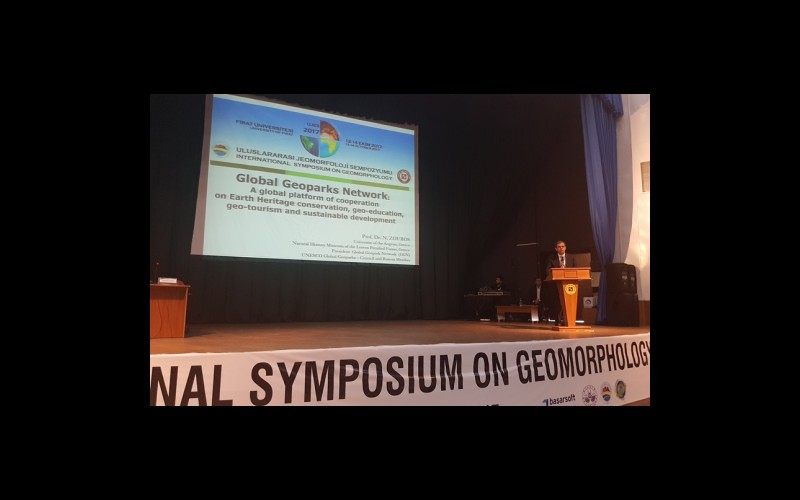 Prof. Dr. Nickolas Zouros davetli sunumunu yaparken